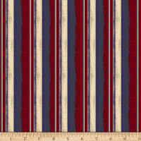 Land That I Love Stripe Dark Red