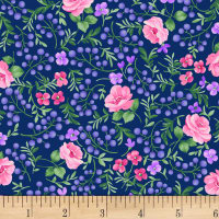 Chelsea Berries and Flowers Light Navy