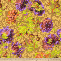 Kaffe Fassett Collective Baroque Floral Brown