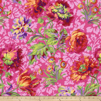 Kaffe Fassett Collective Baroque Floral Red
