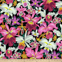 Kaffe Fassett Collective Orchids Black