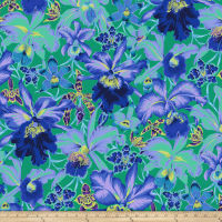 Kaffe Fassett Collective Orchids Blue