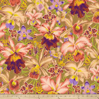 Kaffe Fassett Collective Orchids Brown