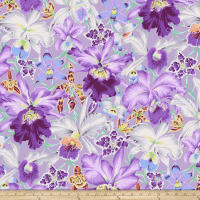 Kaffe Fassett Collective Orchids Cool