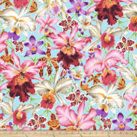 Kaffe Fassett Collective Orchids Natural