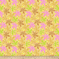 Kaffe Fassett Collective Lacy Leaf Yellow