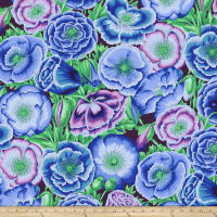 Kaffe Fassett Collective Poppy Garden Blue