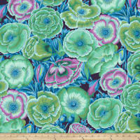 Kaffe Fassett Collective Poppy Garden Green