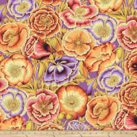 Kaffe Fassett Collective Poppy Garden Orange