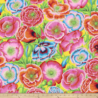 Kaffe Fassett Collective Poppy Garden Red