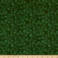 Open Sky Paw Prints Dark Green