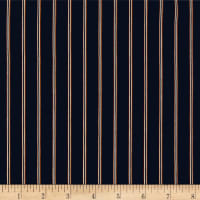 Telio Colorado Poly Faille Print Stripe Navy