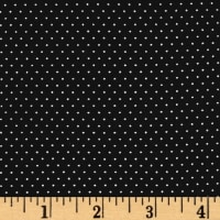 Telio Colorado Poly Faille Print Dot Black Ecru