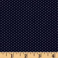 Telio Colorado Poly Faille Print Dot Blue Ecru