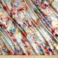 Telio Silk Charmeuse Digital Print Floral Multi
