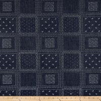 Telio Bandana Chambray Print Dark Blue