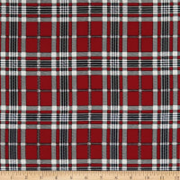 Telio Robin Poly Faille Print Plaid Red