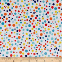 Michael Miller Minky Carnival Fun Dabble Dot White