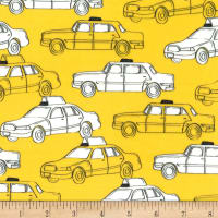 Michael Miller Minky New York, New York Hey Taxi Yellow