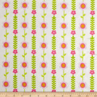 Michael Miller Minky Jungle Princess Jungle Blossoms Pink