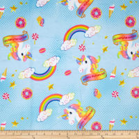 Michael Miller Minky Magical Dreams Unicorn Magic Pink