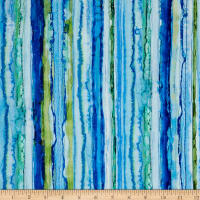 Glacier Rain Stripe Digital Blue
