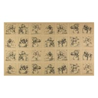 "Snowmen Meadow Snowmen 36"" Panel Squares Black/Brown"