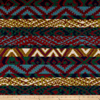 AMERICAN MADE Artistry Tribal Southwest Corozal Chenille Jacquard Magenta