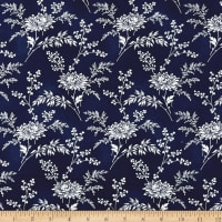 Temperance Blues Main Floral Blue/Neutral