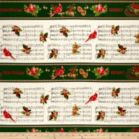 Christmas Memories Border Metallic Multi