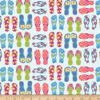 Contempo Front Porch Flip Flops Blue