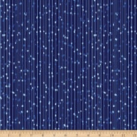 Kanvas Blue Brilliance Pearl Drop Stripe Metallic Navy
