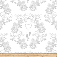 Kanvas I Thee Wed Champagne Toast White Metallic