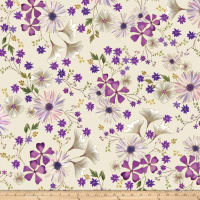 Kanvas Enchanted Garden Floral Cream Metallic