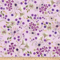 Kanvas Enchanted Garden Floral Lilac Metallic