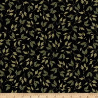 Kanvas Enchanted Leaves Black Metallic
