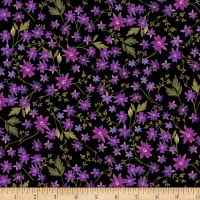 Kanvas Enchanted Mini Floral Black Metallic