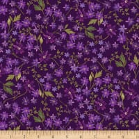 Kanvas Enchanted Mini Floral Purple Metallic
