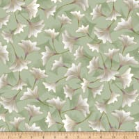 Kanvas Enchanted Blossoms Sage Metallic
