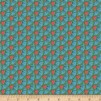 Contempo Printology Scallops Aqua