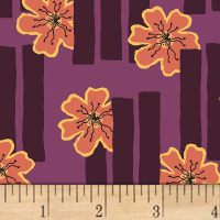 Contempo Printology Flowers Plum
