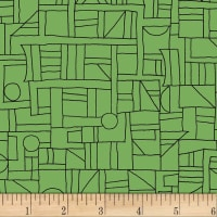 Contempo Printology Sketch Green