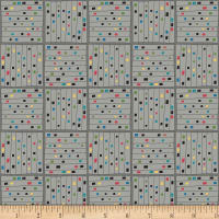 Contempo Printology Gridwork Gray
