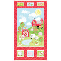 "Kanvas Happy Farms 21"" Panel Multi"
