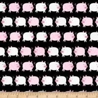 Kanvas Happy Farms Happy Pigs Black