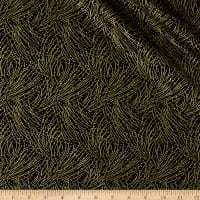 Autumn Leaves Golden Pine Metallic Black