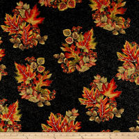 Autumn Leaves Spray Metallic Black