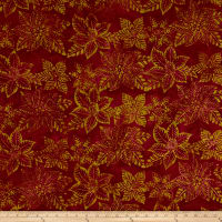 Anthology Batik Floral Silhouette Burgundy
