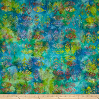 Anthology Batik Feathers Lagoon