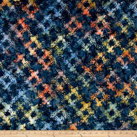 Anthology Batiks Scratched Plaid Prism